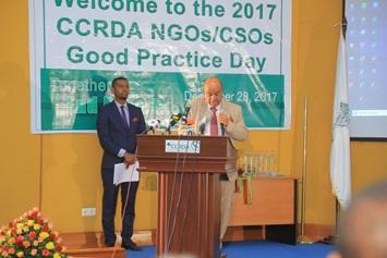 Dr. Meshesha Shewarega, ED of CCRDA while delivering speech
